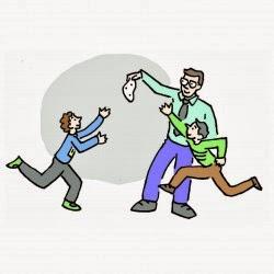 Ragazzi che si affrontano durante una giocata